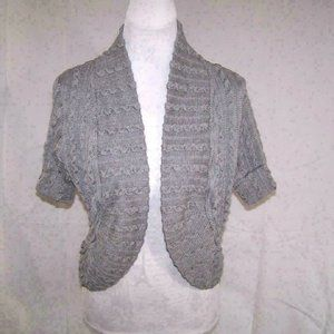Romy Shrug Sweater Womens Large Open Front Stretch